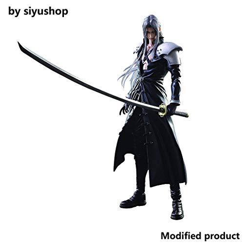 Siyushop Final Fantasy Advent Children: Action Figure di Sephiroth Play Arts Kai - Action Figure di Sephiroth - Dotato di Armi, Ali E Mani Sostituibili - Alta 27 Cm