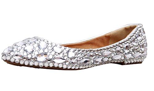 Minitoo , Ballet femme Argent - Silver-Rhinestone