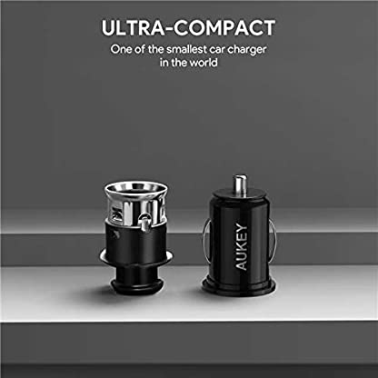 AUKEY-Kfz-Ladegert-48A-Dual-USB-AutoLadegert-mit-AiPower-Adaptive-Ladung-Technologie-fr-iPhone-iPad-Samsung-HTC-LG-Xiaomi-Blackberries-und-andere-Gerte-schwarz