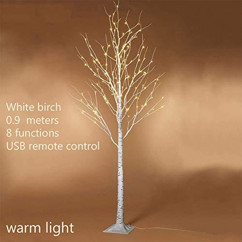 Vinmin LED Birke Licht Tabletop Bonsai-Baum-Licht 90 cm USB-Schmucksache-Halter-Dekor für Zuhause-Party Hochzeit Urlaub warmes Licht