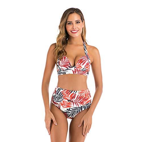 BOLANQ Badeanzug Damen Bauchweg Figurformend Push up Große Größen Sportlich Beachwear Bademode Strandmode -