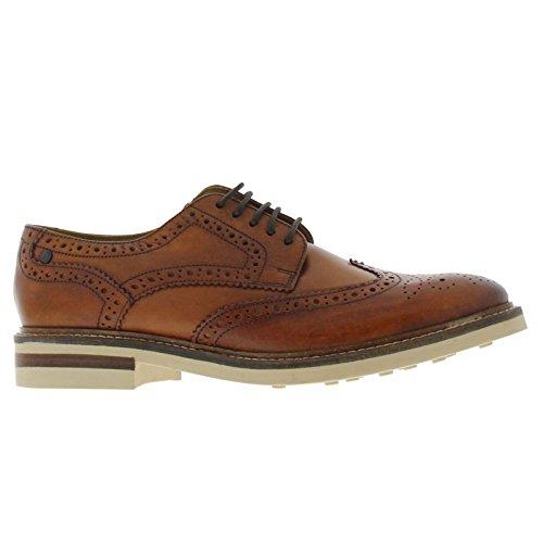 BASE LONDON APSLEY PI13248 tan scarpe uomo pelle derby inglese Tan