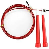 Lovelysunshiny Cuerda Ajustable del Ejercicio de la Aptitud de la Cuerda de Salto de la Velocidad del Alambre de Acero de 3m Que Salta