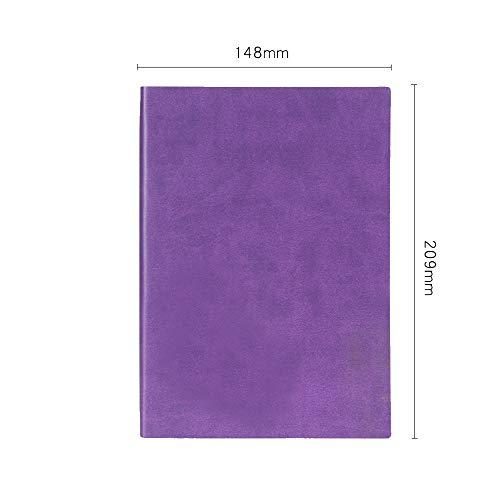 taccuino di cancelleria note piccole rinfrescante diario semplice manuale affari a5 148 * 209mm cielo blu,violet