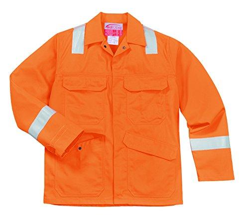 PORTWEST FR25 - Bizflame Plus Jacke, 1 Stück, M, orange, FR25ORRM -