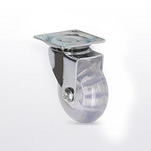 416WvbvZkkL - Ruedas Giratorias de Mueble Swift Transparente Con Placa de Montaje Juego de 4 40 mm