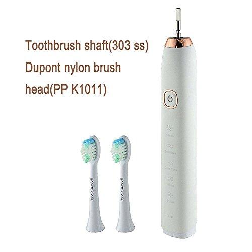 12shage Wiederaufladbare drahtlose Sonic Mundpflege Elektrische Zahnbürste (weiß)