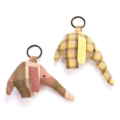 Juego de 2 soportes para llaves de elefantes de GOE: fibras naturales...