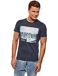 86b67de11cbe oodji Ultra Homme T-Shirt à Imprimé Style Urbain sans Étiquette