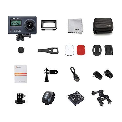 8Eninine Soocoo S200 Action Kamera Sprachsteuerung Ultra Hd 4K WiFi Touch LCD Bildschirm Grau