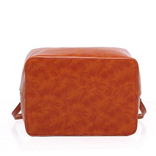 YouPue Damen Handtasche Schultertasche Shopper Taschen Umhängetasche Geldbörse Portemonnaie Schulterbeutel Braun