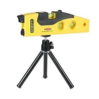 KKmoon Professional Laser Level Line Marker with Adjustable Tripod Laser Dot Cross Line Horizontal Vertical 45-degree Measurement