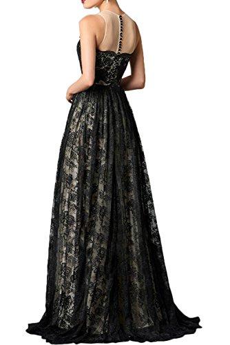 Gorgeous Bride Fashion Abendmode 2017 Rundkragen Satin Tüll Spitze Abendkleider Lang Cocktailkleider Ballkleider Bildfarbe