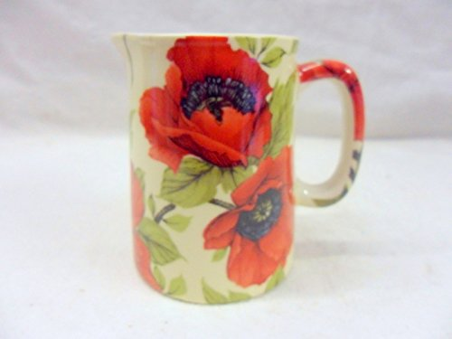 Poppy Chintz Mini Cream Jug By Heron Cross Pottery