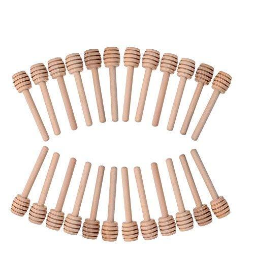 24Bee Stick Stir Bar Kaffee Tee Stir Bar Mini Holz Honig Impregnator Holz Honig Stick Holz Craft Bar (Sticks Stir Bar)