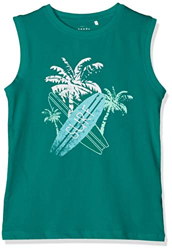 NAME IT Jungen NMMVUX SL TOP H T-Shirt, Grün (Teal Green), (Herstellergröße: 116)