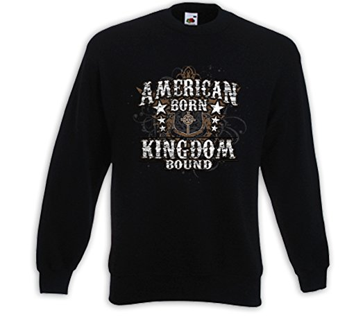 Biker pull American Born Kingdom Cross Tattoo Gothic USA V8 Noir