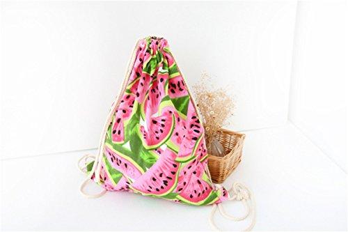 Lovelife2015, Borsa a zainetto donna Multicolore Multicolore Multicolore (Anguria)
