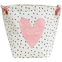 Znvmi Groß Wäschekorb Wäschesack aus Baumwolle Kleidung Aufbewahrungstasche Spielzeugkorb für Kinderzimmer