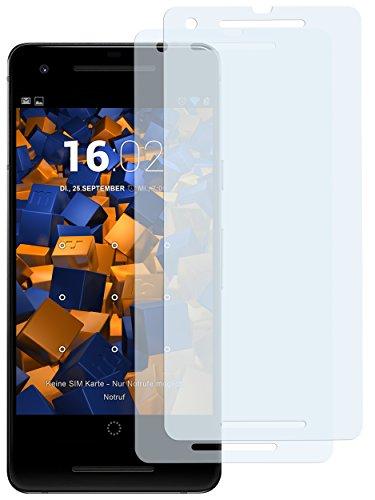 mumbi Schutzfolie kompatibel mit Google Pixel 2 Folie klar, Displayschutzfolie (2x)