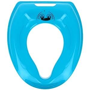 Promobo -Reducteur de Toilette Abattant WC Enfant Design Picto Castor Bleu