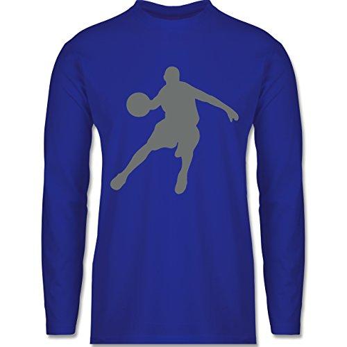 Shirtracer Basketball - Basketballspieler - Herren Langarmshirt Royalblau