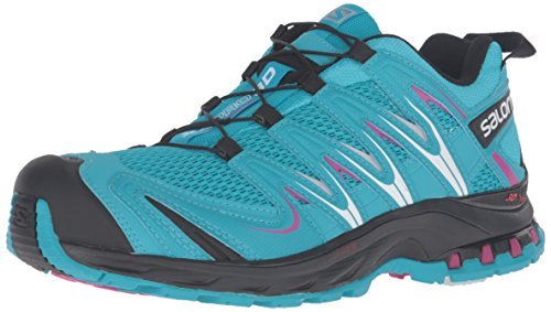 Salomon XA Pro 3D, Scarpe da Trail Running Donna, Turchese (Blue Jay/Black/Deep Dalhia), 38 2/3 EU