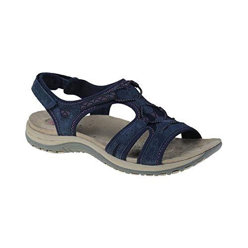 earth spirit fairmont ladies suede touch fasten sandals navy