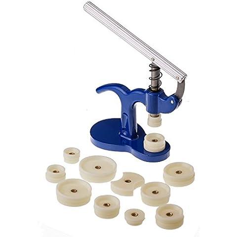 JZK® Reparación de relojes Set Tool Kit, reloj Volver Pulse Relojero Herramienta Set Con Dies 18 - 50