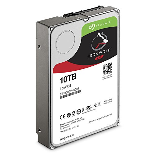 Great Buy for Seagate 10TB IronWolf 3.5 inch 7200 RPM Internal Hard Drive for 1-8 Bay NAS Systems (256MB Cache, 180TB/Year Workload Rate, up to 210MB/s) Special