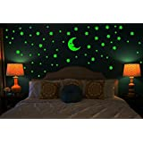 DreamKraft Sticker Moon And 69 Star Glow In The Dark Glowing Sticker For Kids Room And Bedroom