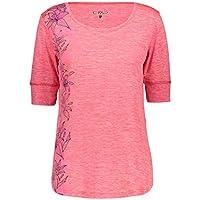 CMP Leichtes Melange-T-Shirt mit Sonnenschutz UPF 40 Camiseta, Mujer, Brillo Mel, D36