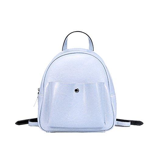 Valin Q0886 Damen Leder Handtaschen Satchel Tote Taschen Schultertaschen Blau