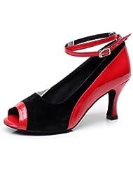 Minitoo QJ9001–cheville Daim moderne Salsa Tango écoles Latin Mariage Soirée danse-chaussures