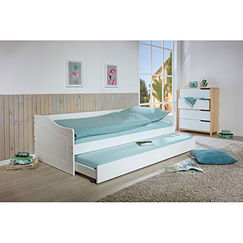 Sofabett >Malte< incl. Funktions-SL (90 x 190 cm, Weiß)