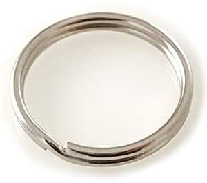 Schlüsselringe Innen-D 13,4 mm Außen-D 16 mm Stahl vernickelt Stk 100er PACK