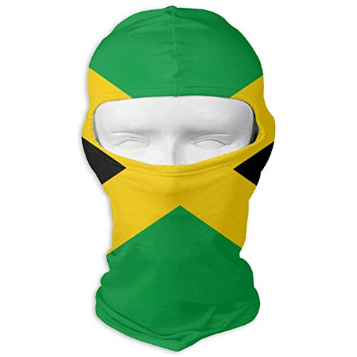 Vidmkeo Flag of Jamaica Ski Mask Sun UV Protection Dust Protection Wind-Resistant Face Mask for Running Cycling Fishing Unisex1 Jamaica Ski