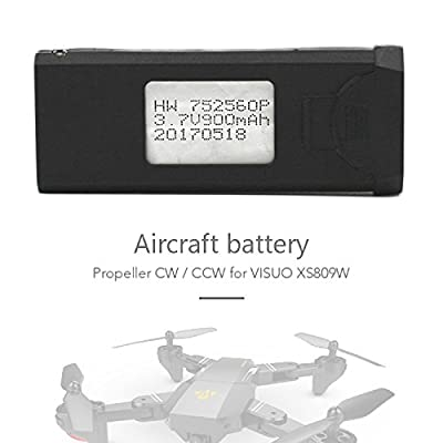 Hanbaili Lipo Battery Charger, 3.7V 900mAh Overcharge Protection and Faster Charging Speed For Visuo XS809 XS809HC XS809HW XS809W Foldable RC Quadcopter Drone