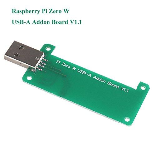 Raspberry Pi Null W USB-A Addon Board V1.1 Keine Datenleitung erforderlich Plug-in dann Play Stellen Sie eine volle Größe, USB Typ-A-Anschluss für Raspberry Pi Zero oder Zero W von MakerHawk (Raspberry Pi Usb Hub)