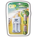 GP Batteries pb530usb230-c2 Power Bank Chargeur rapide USB (avec des piles 2 x AA 2300 mAh)