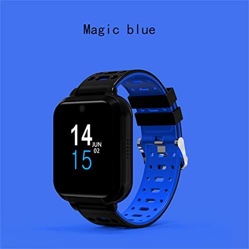 ZLOPV Fitness Armband GPS Smart Watch M1 Android 6.0 MTK6737 Bluetooth Smartwatch Unterstützung Pulsmesser WiFi Uhr Männer für Huawei Uhr, blau