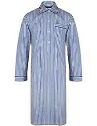 Chemise de nuit à rayures bleues, 100% Coton - homme