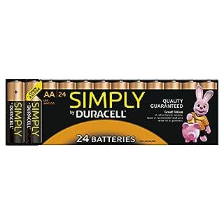 Duracell Pile Alcaline Simply AA x 24 (B004BQQX46) | Amazon price tracker / tracking, Amazon price history charts, Amazon price watches, Amazon price drop alerts