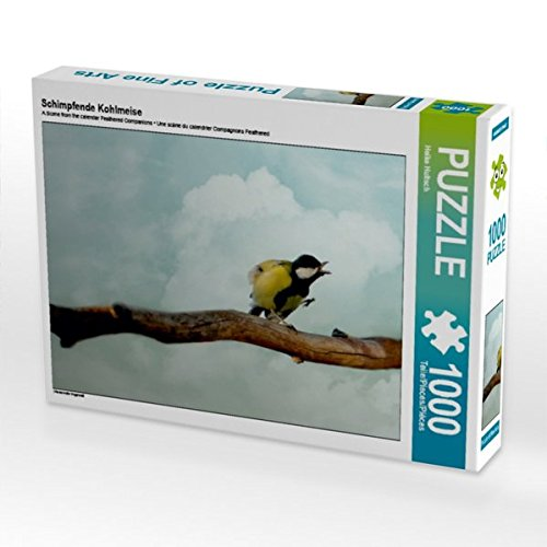 Schimpfende Kohlmeise 1000 Teile Puzzle quer (CALVENDO Tiere)