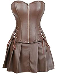 Kleid kunstleder braun