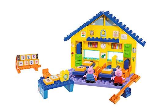 PlayBIG Bloxx - Peppa Wutz - Schule - Spielset mit Peppa Pig Spielfiguren, kompatibel mit bekannten Bausteinen