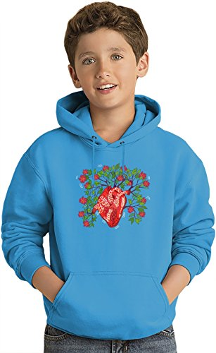 blossom-heart-lightweight-hoodie-for-kids-80-cotton-20polyester-dtg-printing-unique-custom-jumpers-s