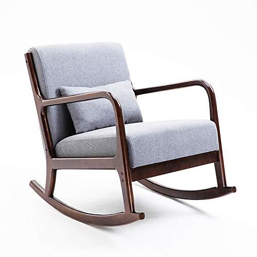 Outdoor Patio Schaukelstuhl, Gummi Massivholz Schaukeln Bistro Set, handgefertigt, Patio Stühle Glider Rattan Rocker Stuhl Schaukelstühle für Porch Garten Rasen Deck -
