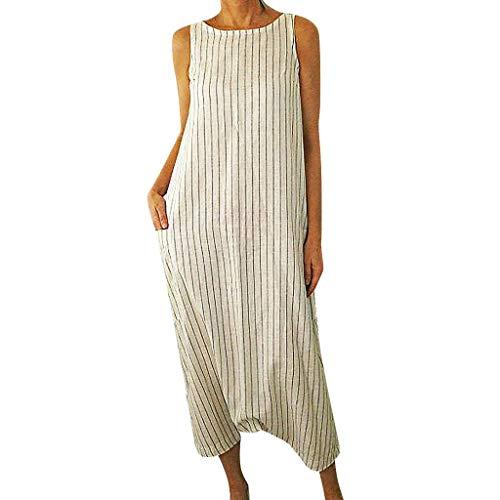Wawer Damen Kleider Maxikleid Lose Kleid Langarm Retro Leinen Baumwolle Lange Kleider Elegante Bluse Breite Beiläufige Sommerkleider Damen Plus Größe -