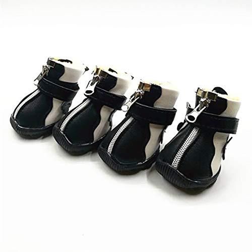 Noradtjcca Modisches Design aus weichem PU-Leder Welpen Haustier Hund Schuhe Sport Casual Anti-Rutsch-Stiefel Sneaker Schuhe Heimtierbedarf -